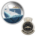 2014 $1 100 Yrs Of Submarine Service 1oz Silver Proof W/Badge