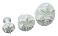 Snowflake Plunger Cutter Set 3pc