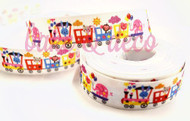 Animal Train Ribbon 15mm