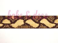 Snake Skin Ribbon 25mm