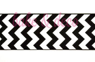 Black Chevron Ribbon 6cm