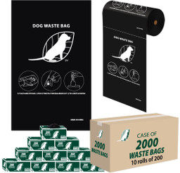 2000 Dog Poop Bags for Roll Bag Dispensers - (Parks, HOA, KOA, Complex, BULK)