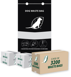 3200 Single Pull Dog Waste Bags for Mitt Header Dispensers (Parks, HOA, KOA, BULK)