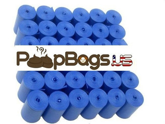 1012 Blue Pet Waste Dog Poop Bags + FREE Dispenser