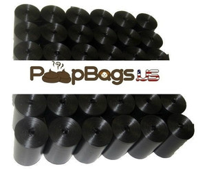1012 Black Pet Waste Dog Poop Bags + FREE Dispenser