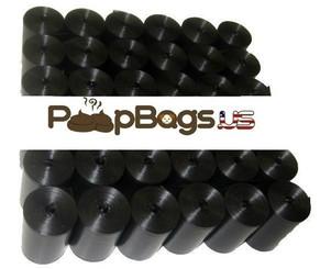 6072 Black Dog Poop Bags (BULK) + FREE Dispenser
