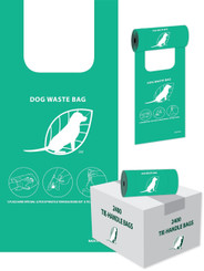 2400 Dog Waste Bags with Handles for Dispensers (BULK, PARKS, HOA)