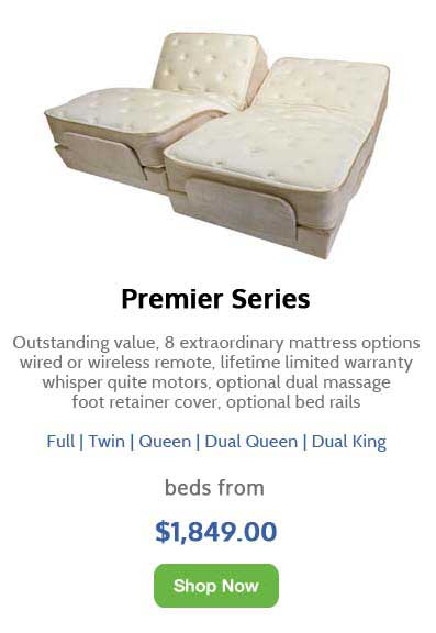 Image of the Premier Series of Flex-A-Bed Adjustable Beds