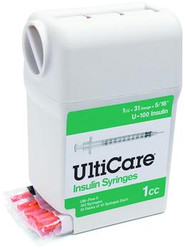 "UltiGuard Syringes - 30 ga, 5/16"", 1.0 cc (Box of 100)"