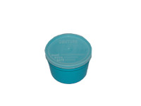 Denture Cup Medi-Pak - 8 oz, Teal with Snap-on Lid, Disposable (Case of 250)