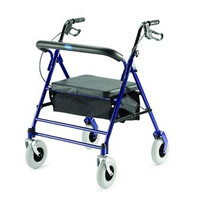 "Invacare Bariatric Rollator - 500 lbs Capacity, 33.75"" to 38"" Handle Height"