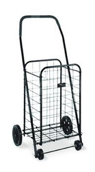Mabis DMI Folding Shopping Cart in Black