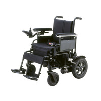 "Cirrus Plus Folding Power Wheelchair with Footrest and Batteries - 16"" seat"