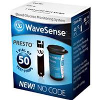 WaveSense Presto Blood Glucose Test Strips (Vial of 50)