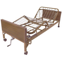 "Drive Medical Semi-Electric Hospital Bed with Rail & Mattress Options, 36""W x 80""L"