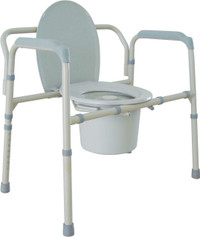 Bariatric Folding Commode - Weight Capacity 650 lbs.