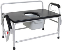 Extra-Large Bariatric Drop Arm Commode, Weight Capacity 1,000 lbs.