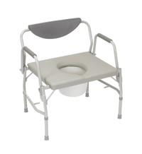 Deluxe Bariatric Drop-Arm Commode, Weight Capacity 1000 lbs.