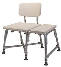 "Lumex Bariatric Transfer Bench, 14"" to 18"" Height Range, Weight Capacity 600 lbs"