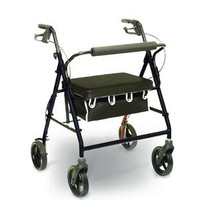 "PMI Aluminum Bariatric Rollator - 400 lbs Capacity, 33.5"" to 38.5"" Handle Height"