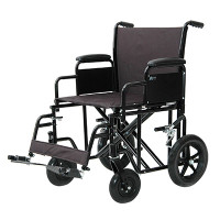 "ProBasics Heavy-Duty Transport Wheelchair, 22"" Wide, 26.5 Lbs., Weight Capacity 400 Lbs."