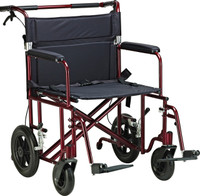 "Light transportation wheelchair alternative for on the go. ATC22-R 22"" Bariatric Aluminum Transport Chair from NewLeaf Home Medical"