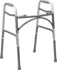 "The wider and deeper frame design offers a spacious 20.5"" width inside the hand grips and 23"" width inside the back legs, from NewLeaf Home Medical."