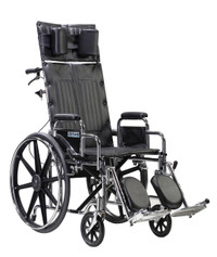 "Drive Medical Sentra Reclining Wheelchair - 22"" Seat"