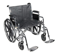 "Drive Medical Sentra EC Heavy Duty Wheelchair, 20"" to 24"" Width, Weight Capacity 450 Lbs."