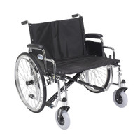 Sentra EC Heavy Duty Extra Wide Wheelchair shown without optional riggings