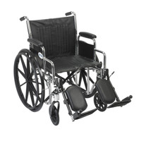 "Drive Medical Chrome Sport Wheelchair - 16"", 18"" or  20"" Seat"