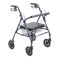 "Drive Go-Lite Bariatric Steel Rollator - 500 lbs Capacity, 35.25"" to 39.5"" Handle Height"
