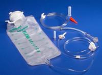 Kangaroo ePump Enteral Feeding Proximal Spike Pump Set with 1000mL Flush Bag