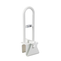 "Bathtub Shower Clamp-On Tub Rail - 14.5"" Height"