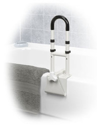 "Adjustable Height Bathtub Grab Bar Safety Rail - 14"" to 17"" Height"