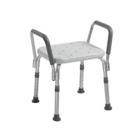 Drive Medical Knock-Down Bath Bench with Padded Arms