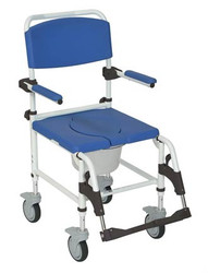 Drive Medical Aluminum Shower Commode Transport Chair