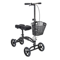 "Drive Dual Pad Steerable Knee Walker with 8"" Casters & Removable Basket"