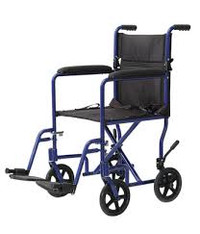 "ProBasics Aluminum Transport Wheelchair - 19"" x 16"""