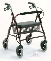 "Merits Aluminum Bariatric Rollator - 400 lbs Capacity, 31.5"" to 35.5"" Handle Height"
