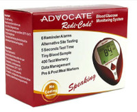 Advocate Redi-Code Plus Speaking Glucose Meter, No Coding Required