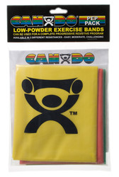 CanDo Low Powder PEP Exercise Bands, 4' (Easy Resistance)