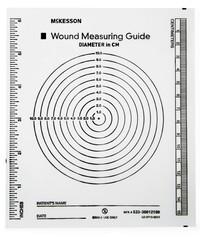 """Plastic Wound Measuring Guide, 5_"""" x 7"""" -  Non-Sterile"""