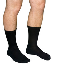 Scott Diabetic Compression Socks, Crew Length - Black
