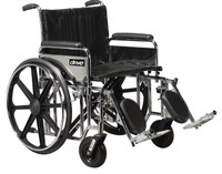 "Drive Sentra Extra Heavy Duty Wheelchair, 24"" Width - Weight Capacity 500 Lbs."