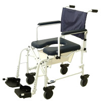 "Invacare Mariner Shower / Commode Wheelchair - 5"" Casters"
