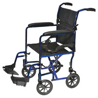 "ProBasics Aluminum Transport Wheelchair - 17"" x 16"""