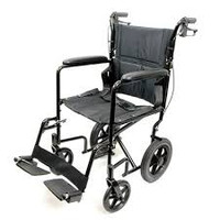 "ProBasics Deluxe Aluminum Transport Wheelchair - 19"" x 16"""