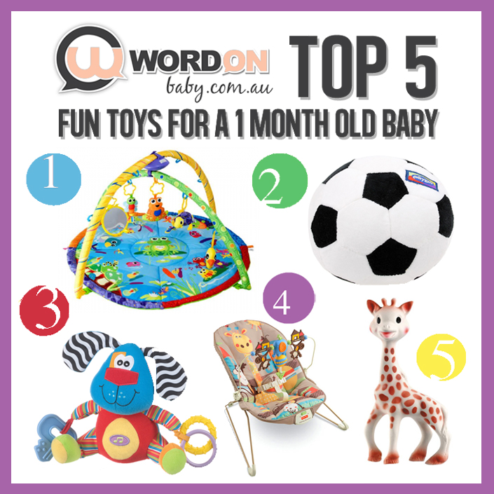 Toys For 1 Month Olds : Top toys for a month old wordonbaby