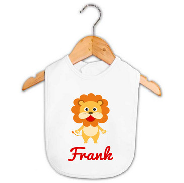 Personalised Boy's Lion Baby Bib
